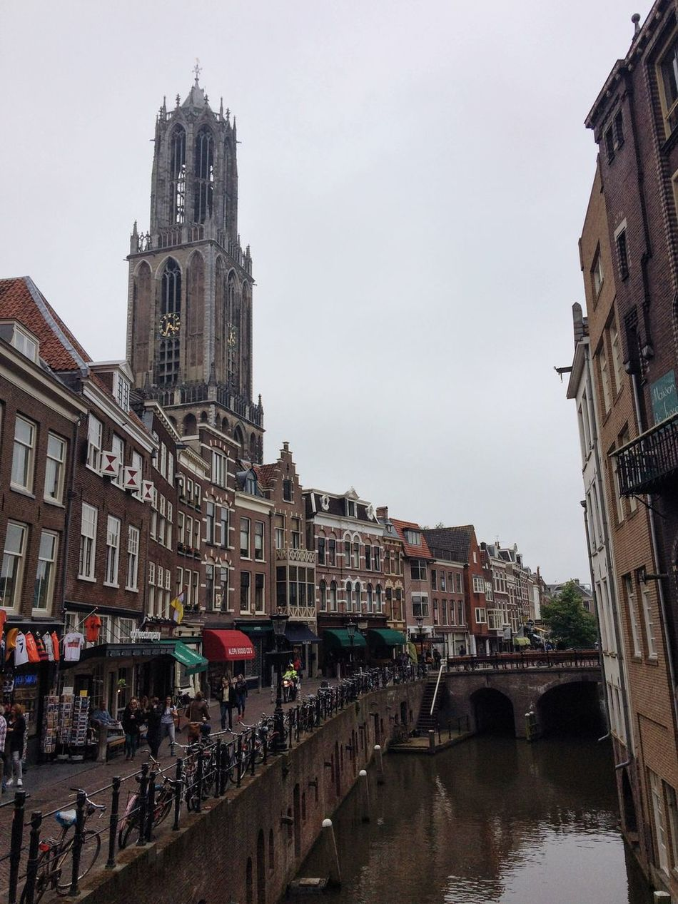 Cityscapes City View  Canal Dutch Canals Dutch Cities City Life Exploring Having A Walk Houses Askew Old Houses Pretty View Tower People Utrecht The Netherlands