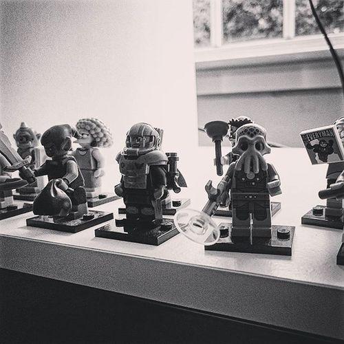 Various Lego figures, in the living room.. LEGO Figures Legofigures Toys Notmine Bw Blackandwhite Shelf Random Capture ican Sony Xperia XperiaZ3