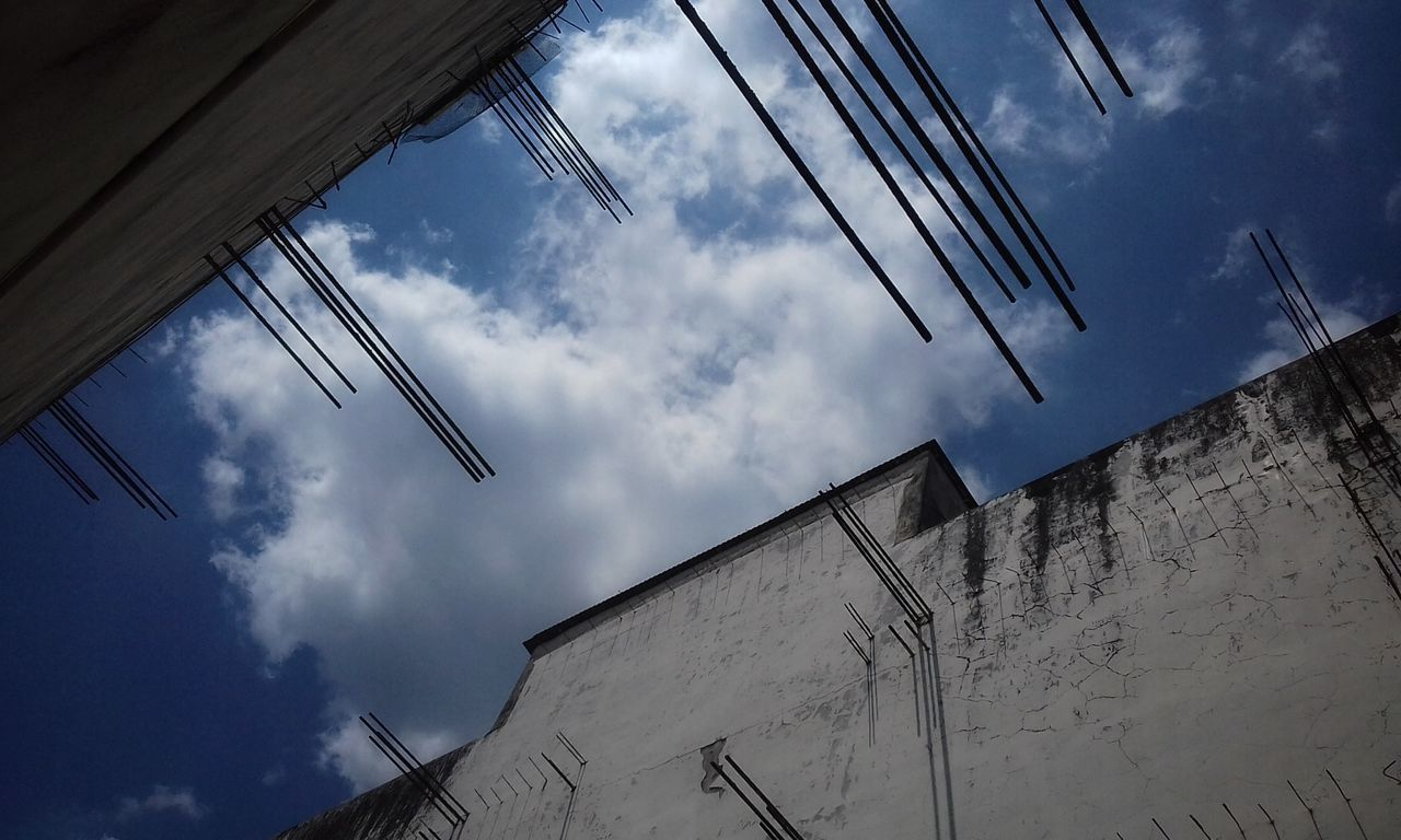 Iron Barrier Low Angle View Sky Architecture No People Cloud - Sky Building Exterior Built Structure Day Outdoors Close-up EyeEmNewHere