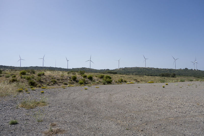 Alternative Energy Barracas Castellón Day Environmental Conservation Field Fuel And Power Generation Grass Industrial Windmill Landscape Nature No People Outdoors Renewable Energy Rural Scene Sky Traditional Windmill Wind Power Wind Turbine Windmill