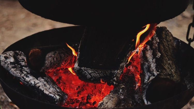 Heat - Temperature Fire - Natural Phenomenon Flame Burning Glowing Red Close-up No People Outdoors Feuer Fire Flamme Glühen Glut Deutschland Germany
