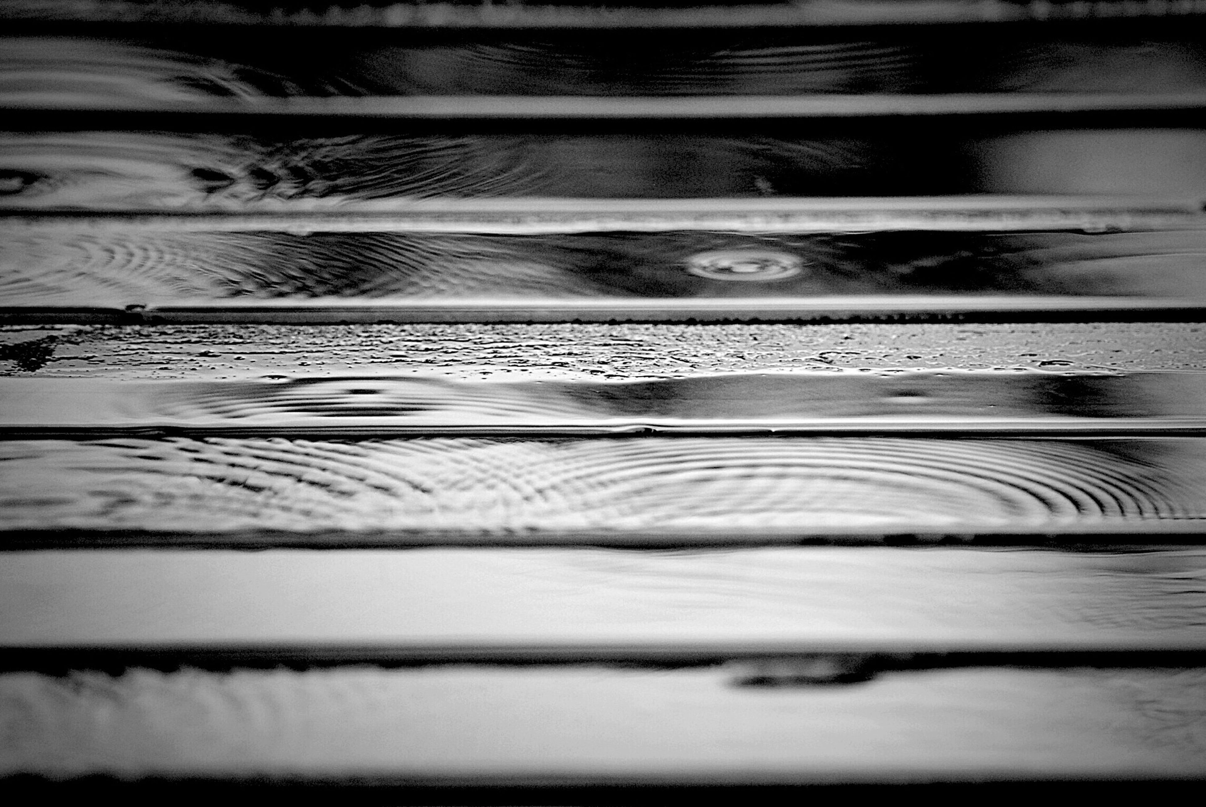 pattern, wood - material, winter, snow, shadow, cold temperature, nature, no people, high angle view, outdoors, textured, day, tranquility, wooden, close-up, backgrounds, water, full frame, railing, sunlight