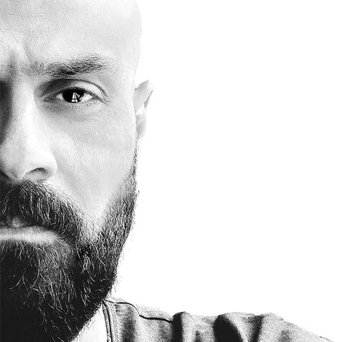 Human Face Human Eye Portrait Human Body Part Beard Only Men One Person Close-up One Man Only Men Looking At Camera Handsome Adult People Adults Only White Background Facial Mask - Beauty Product Day Blackandwhite Black And White Istanbul Mobilephotography Black & White IPhone