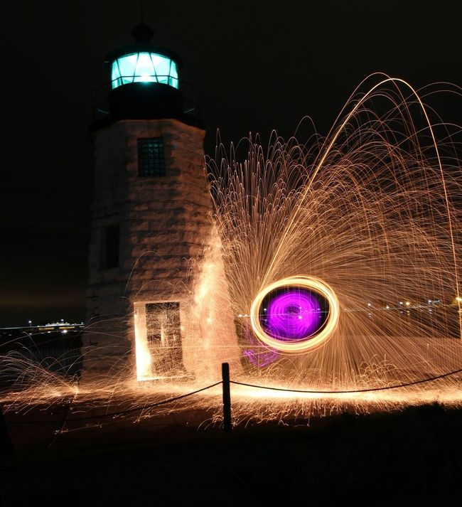 Good morning..... Illuminated Motion Night Long Exposure Spinning Glowing Blurred Motion Sparks Celebration Speed Exploding Fire - Natural Phenomenon Wire Wool Firework Display Firework - Man Made Object Lit Fountain Spark Sky Outdoors
