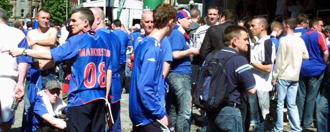 Adult Adults Only Crowd Day Fan - Enthusiast Football Supporters Large Group Of People Men Only Men Outdoors People Rangers Togetherness