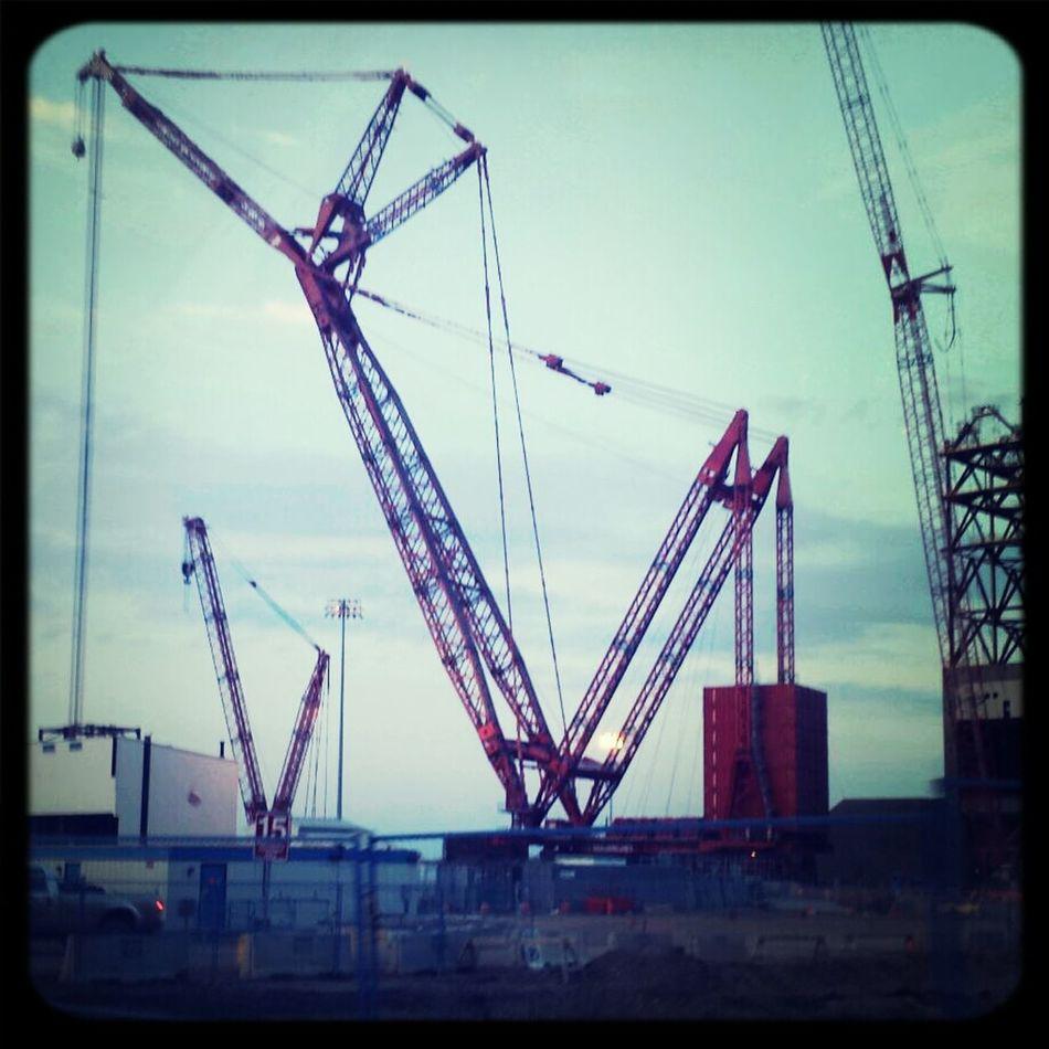 Worlds largest crane at cnrl site