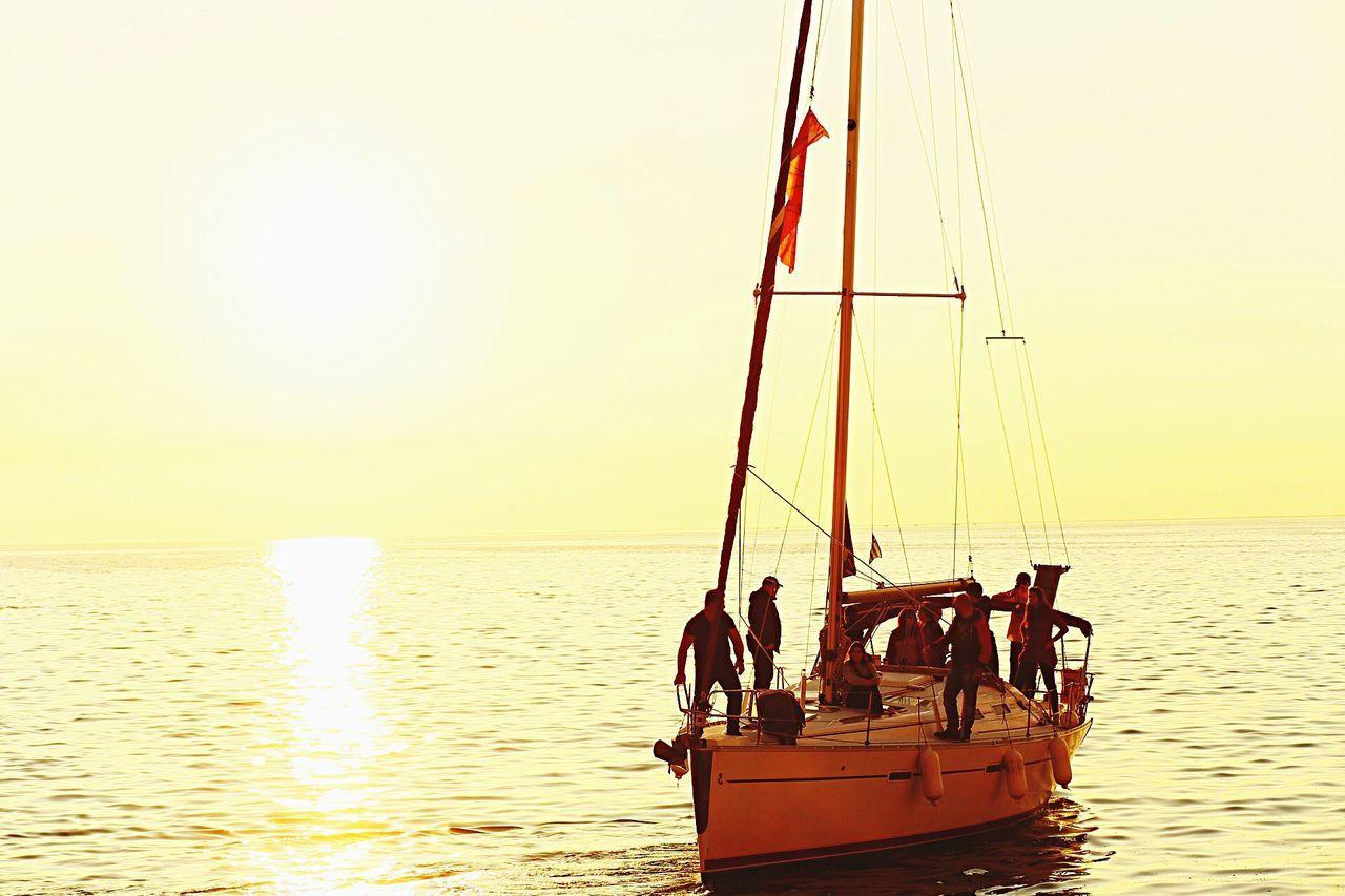 Sunset in Thessaloniki Sunset Sun Sky Skg Thessaloniki Paralia Thermaikos Sotnation Boat Sea