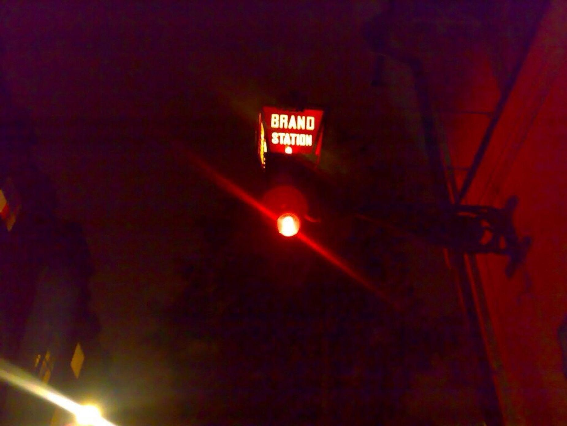 Firestation Firehouse Brandstation Night Lights