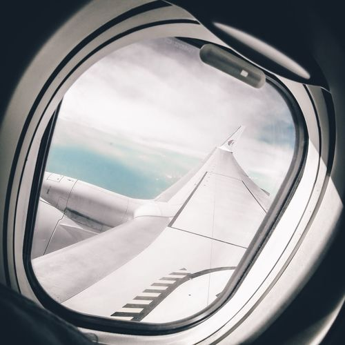 No People Window Close-up Sky Day Airplane Wing Vacation Malaysia Travel Mode Of Transport Lifestyles Holiday Vacation Aviation Gopro Goprophotography