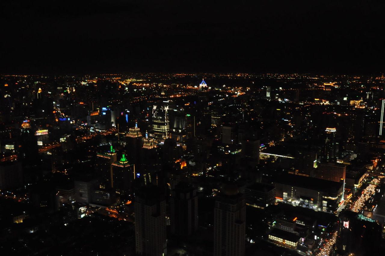Captured at Baiyoke Sky Hotel, at the topmost floor at the revolving observatory. Went there on November of 2011. Baiyoke Sky Baiyoke Tower Bangkok Cityscape Lights Nightscape Observatory Revolving Restaurant  Skyscraper Thailand