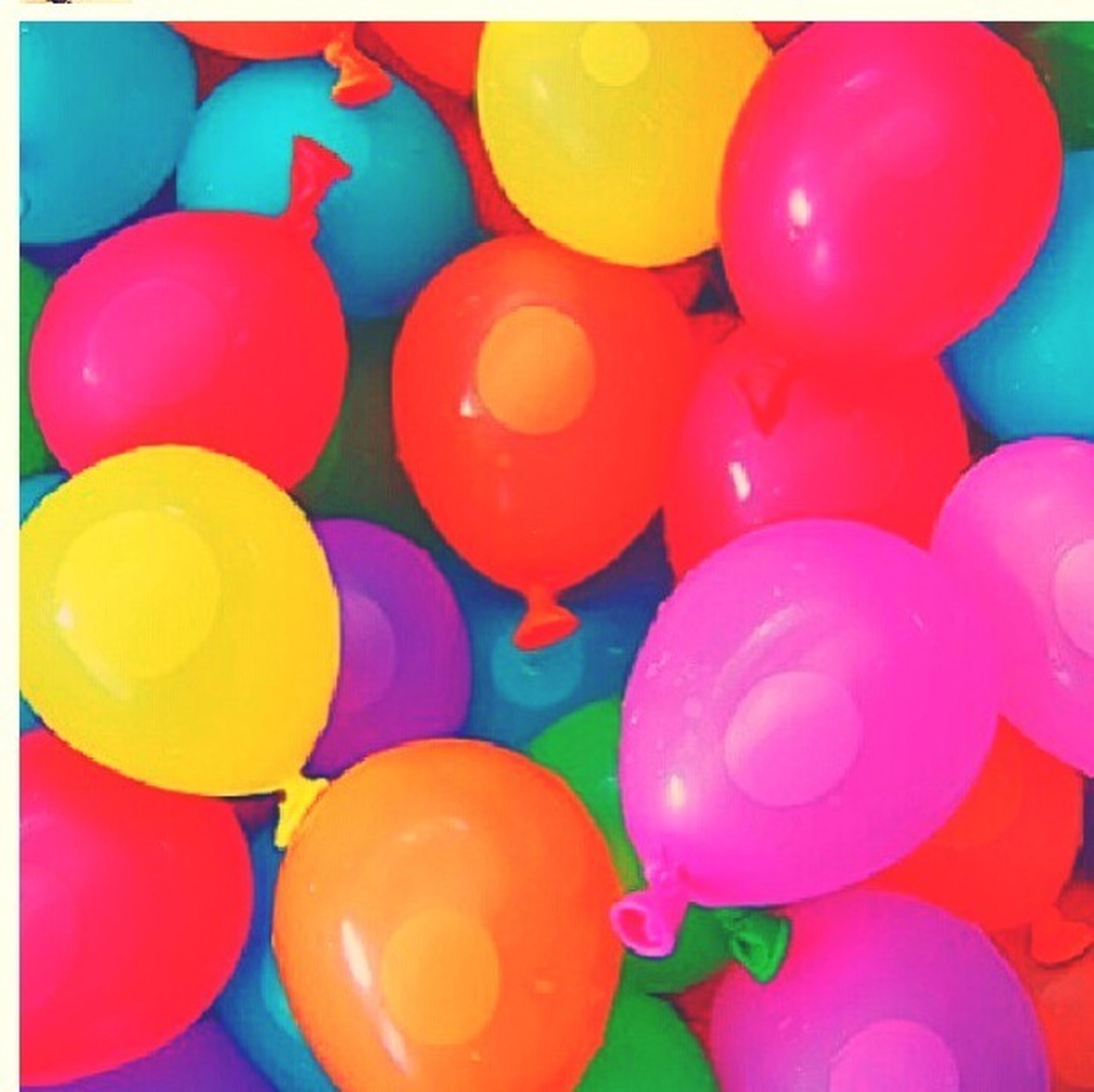 transfer print, auto post production filter, multi colored, full frame, colorful, backgrounds, large group of objects, indoors, abundance, variation, close-up, red, still life, no people, balloon, blue, vibrant color, high angle view, circle, pattern