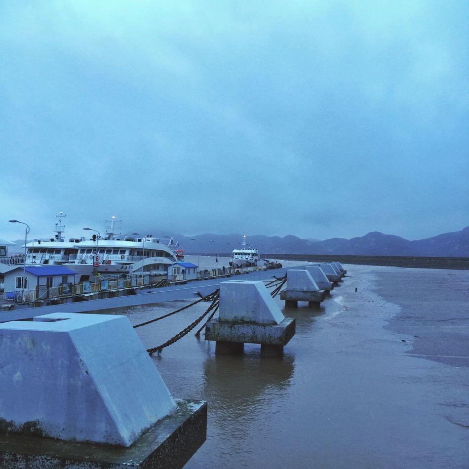 碼頭坐船 Trip Ocean Ship Vacation Time Night On A Holiday Traveling In China Zhejiang 輪船 輪渡