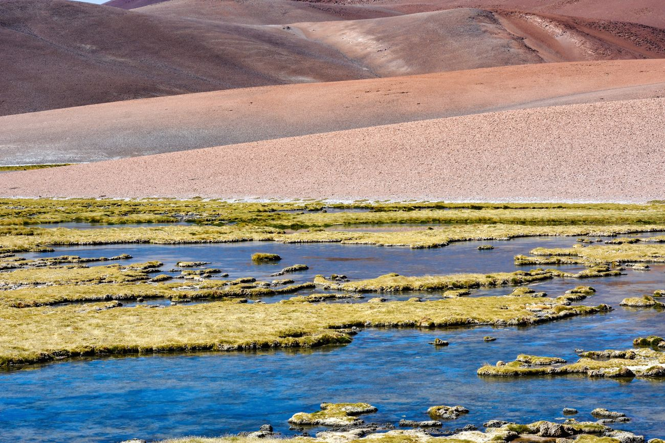 Atacama Desert Colors Colour Of Life Blue Orange Nature Day Beauty In Nature Water Tranquility Outdoors Landscape Antofagasta Layers And Textures Layers And Colors Layers In Landscape Textures Chile♥ Chile