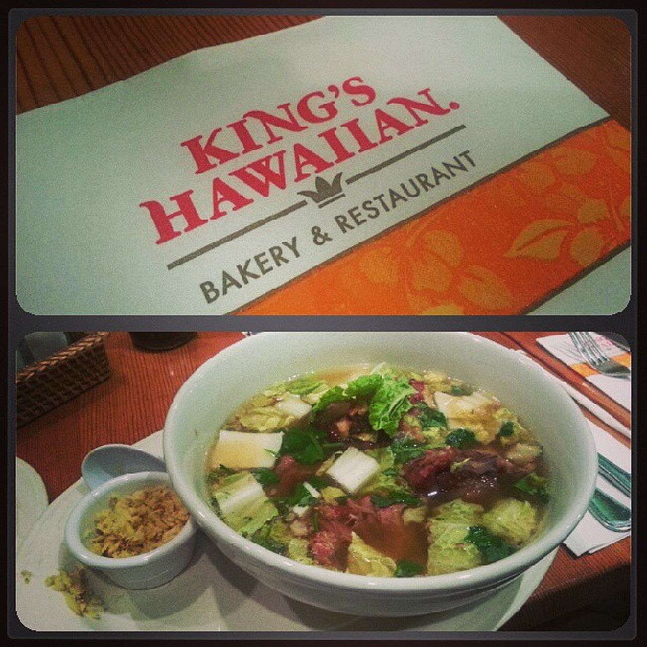 Poping my Kingshawaiian cherry. The ox tail soup is fire.