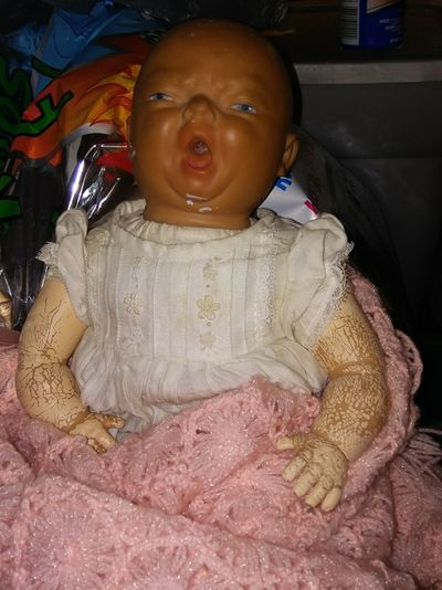 Wrapped In A Blanket Baby Check This Out 1940's Baby Doll Vintage Baby Doll Vintage Toys Female Photographer No People 1940's Vintage Style Front View First Time Grandma's Baby Doll 1948 Maximum Closeness Lifestyles Change Portrait
