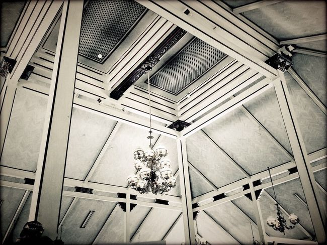 Interior Views Ceiling Design Traditional Java Central Java INDONESIA Architecture Architecturephotography IPhoneography Amateurphotography Blackandwhite Photography Travel Photography Culture Tadaa Community