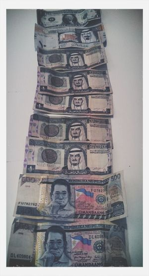 My abroad money. American,Saudi,Philippines