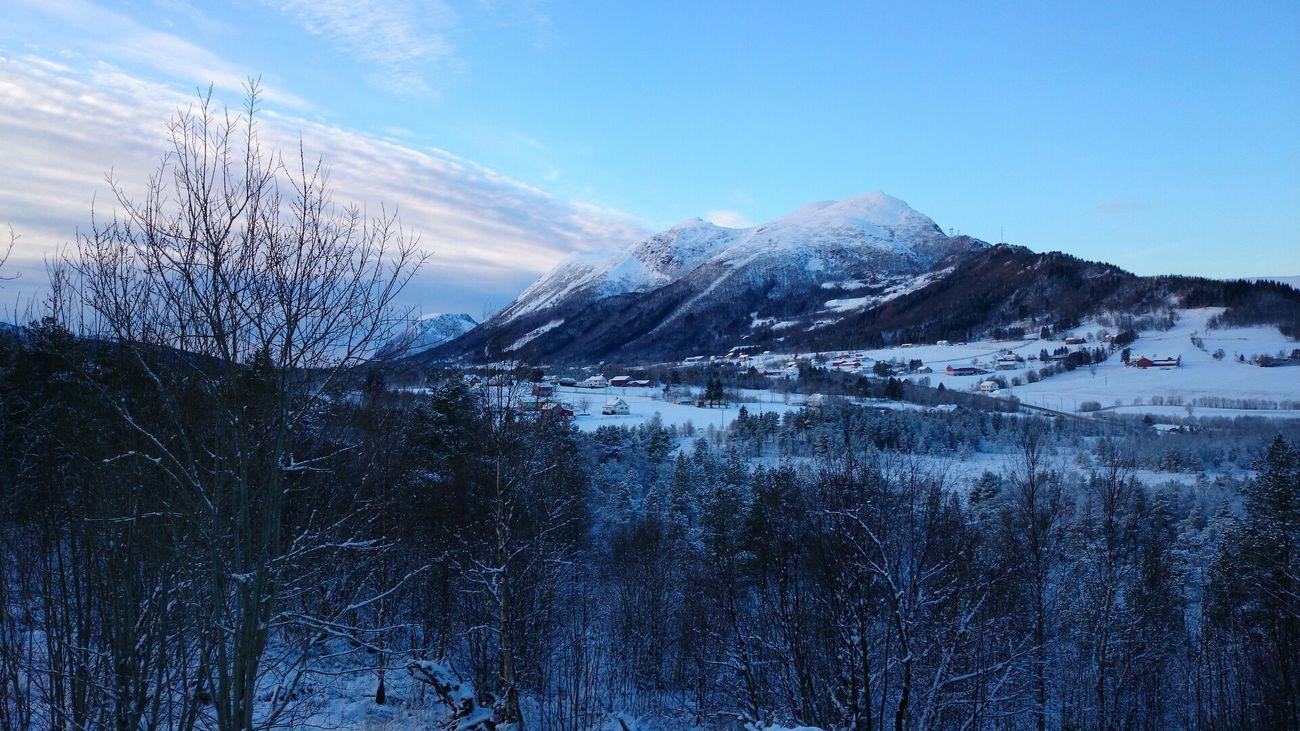 Mountains Eide På Nordmøre Snow ❄ Winter White By CanvasPop