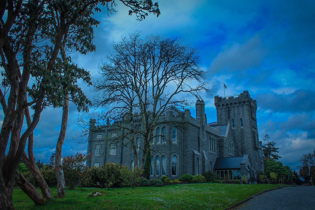 Kilronan Castle, Co Roscommon, Ireland, History, Culture, Architecture, Architecture Tree Cloud - Sky Sky Built Structure History Outdoors Building Exterior Day No People Bare Tree Grass Nature EyeEmNewHere The Architect - 2017 EyeEm Awards