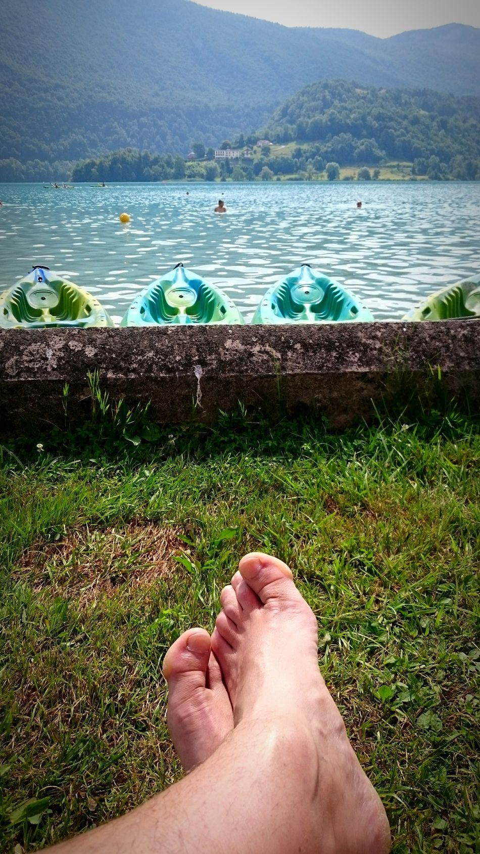 Relaxing Hello World Lovely Weather Sunday Lake Lac D'aiguebelette Resting Cool Enjoying The Sun That's Me