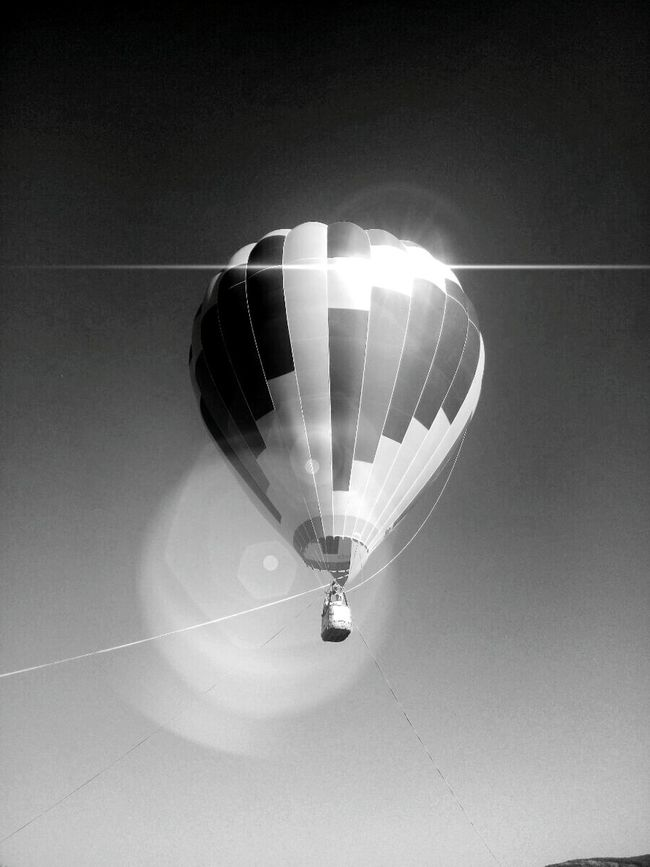Monochrome Photography Mode Of Transport Flying No People Sevastopol  Russia Sky Baloon