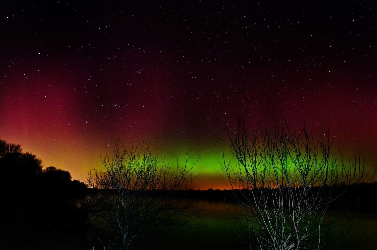 Aurora Borealis Aurora Landscape Poland Breathtaking Sun Explosion Awsome! Nature Stars Night Photography
