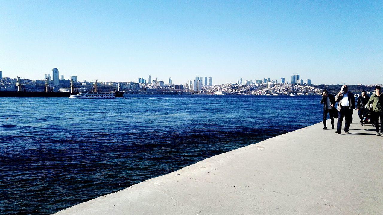 Üsküdar Kız Kulesi Sea Blue Day Sky Nature Water No People Beach Istanbul Turkey Istanbul üsküdar Sahil Üsküdar. İstanbul TÜRKİYE..