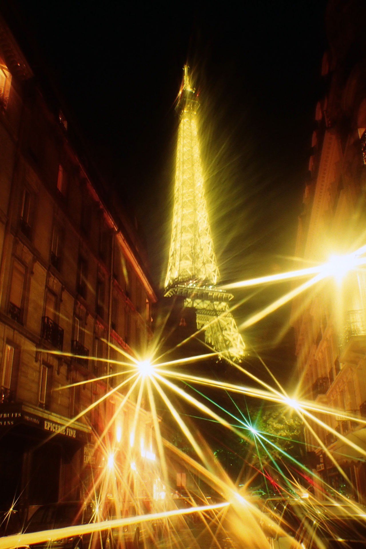 Architecture Building Exterior Built Structure City Eiffel Tower France Illuminated Night Nightlife Nightlights No People Outdoors Paris Special Effects