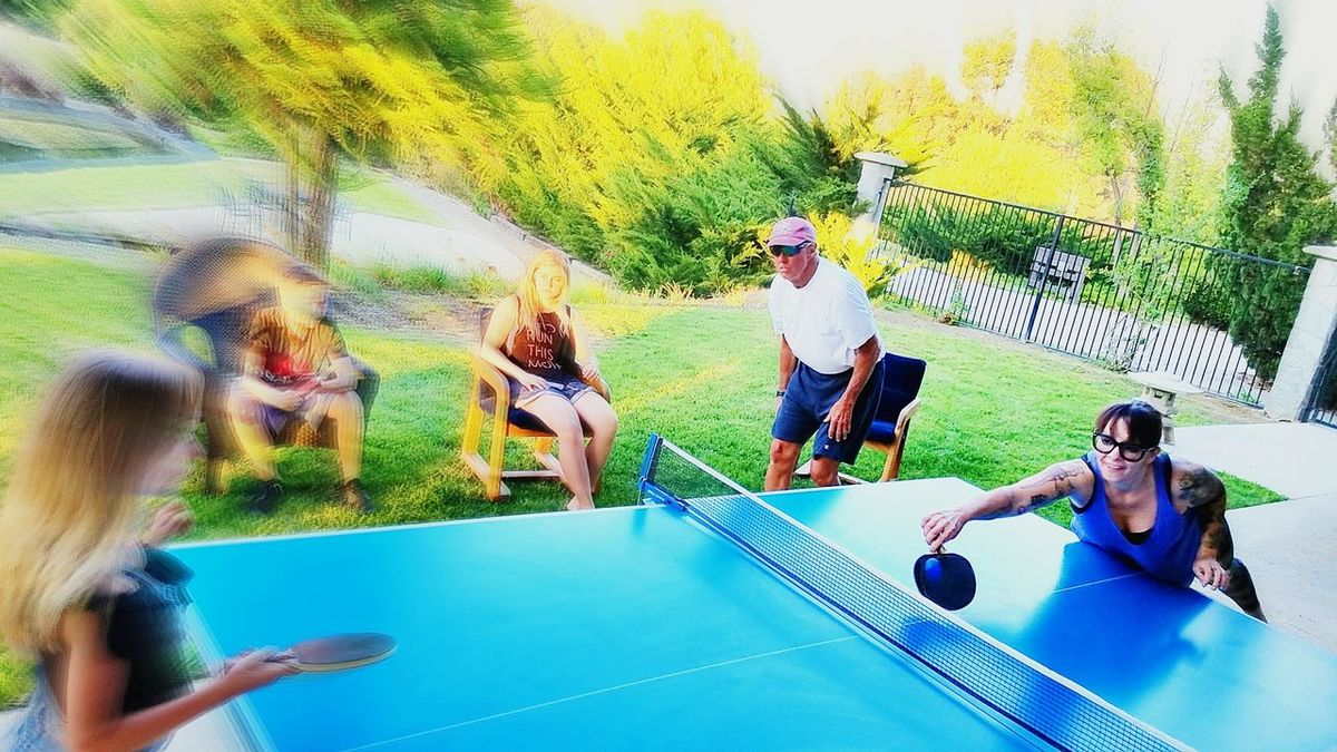 Togetherness Fun Playing Sport Enjoyment Lifestyles People Leisure Activity Motion Adult Activity Real People PingPongTime.. Action Shot  Blur Father's Day Temecula