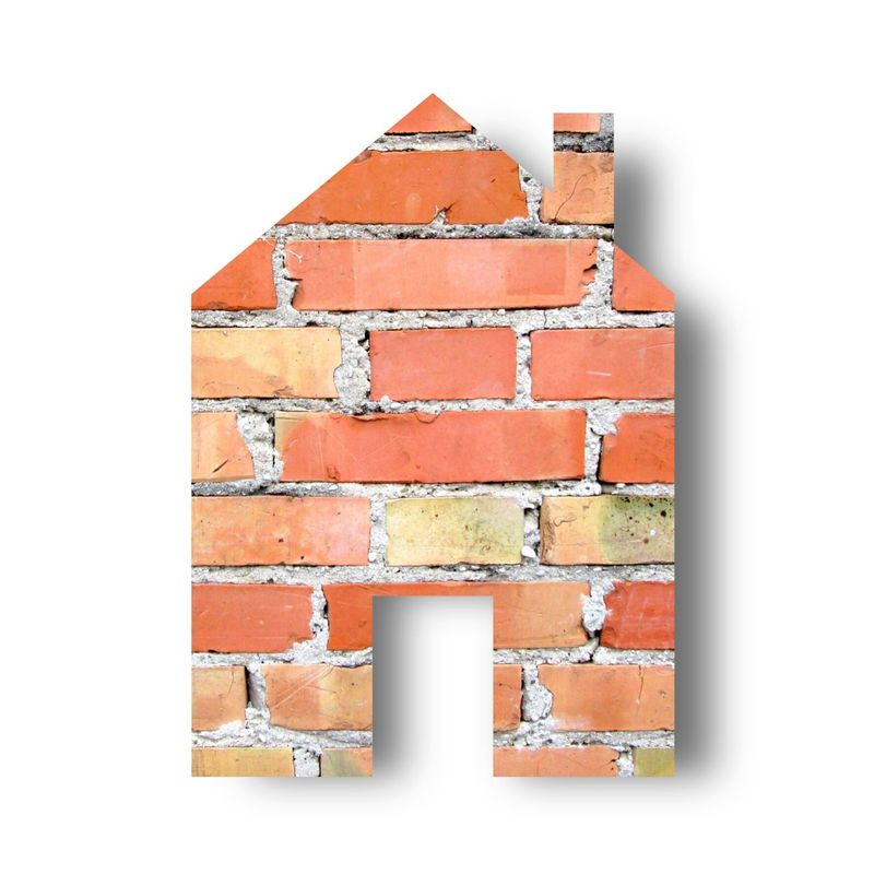 House Home Sweet Home Brick And Mortar Red Orange Yellow White Brown Icon Architecture ArchiTexture Real Estate Shopping Concept House Shape Home Is Where The Art Is