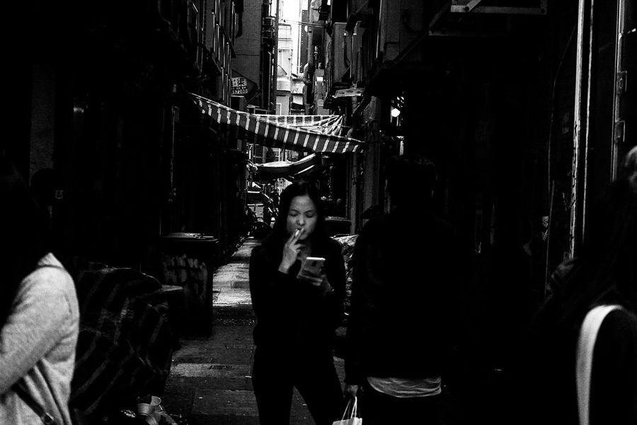 Smoking Badhabits HongKong Travel Nomadheroes Streetphotography Adults Only People Day Street