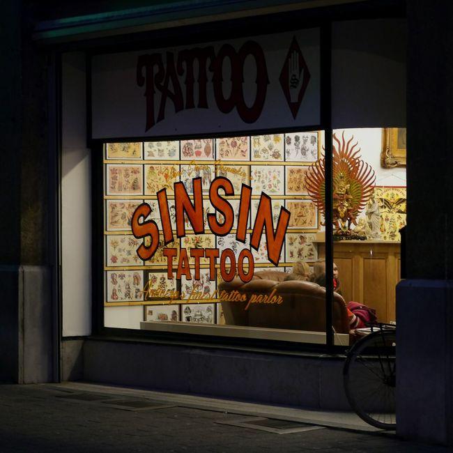 Text Western Script Communication Art Creativity Windowshopping Overnight Success Tattoolife Tattoo Life Antwerp, Belgium Antwerpen SinSin Tattoo Parlor