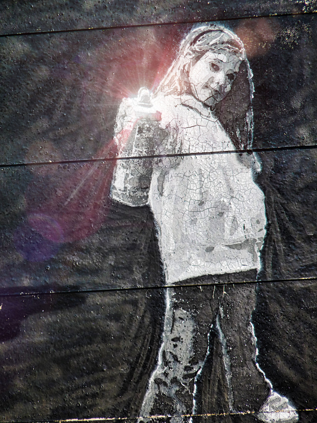 girl on a wall holding a spray can - series of 6 photos: 1 original and 5 with effects made in Cyberlink PhotoDirector Close-up Cyberlink Photodirector Day Girl Graffiti Graffiti Art Graffiti Wall No People Outdoors Special Effects Spray Can Spray Can Art Spray Paint Spraying Wall