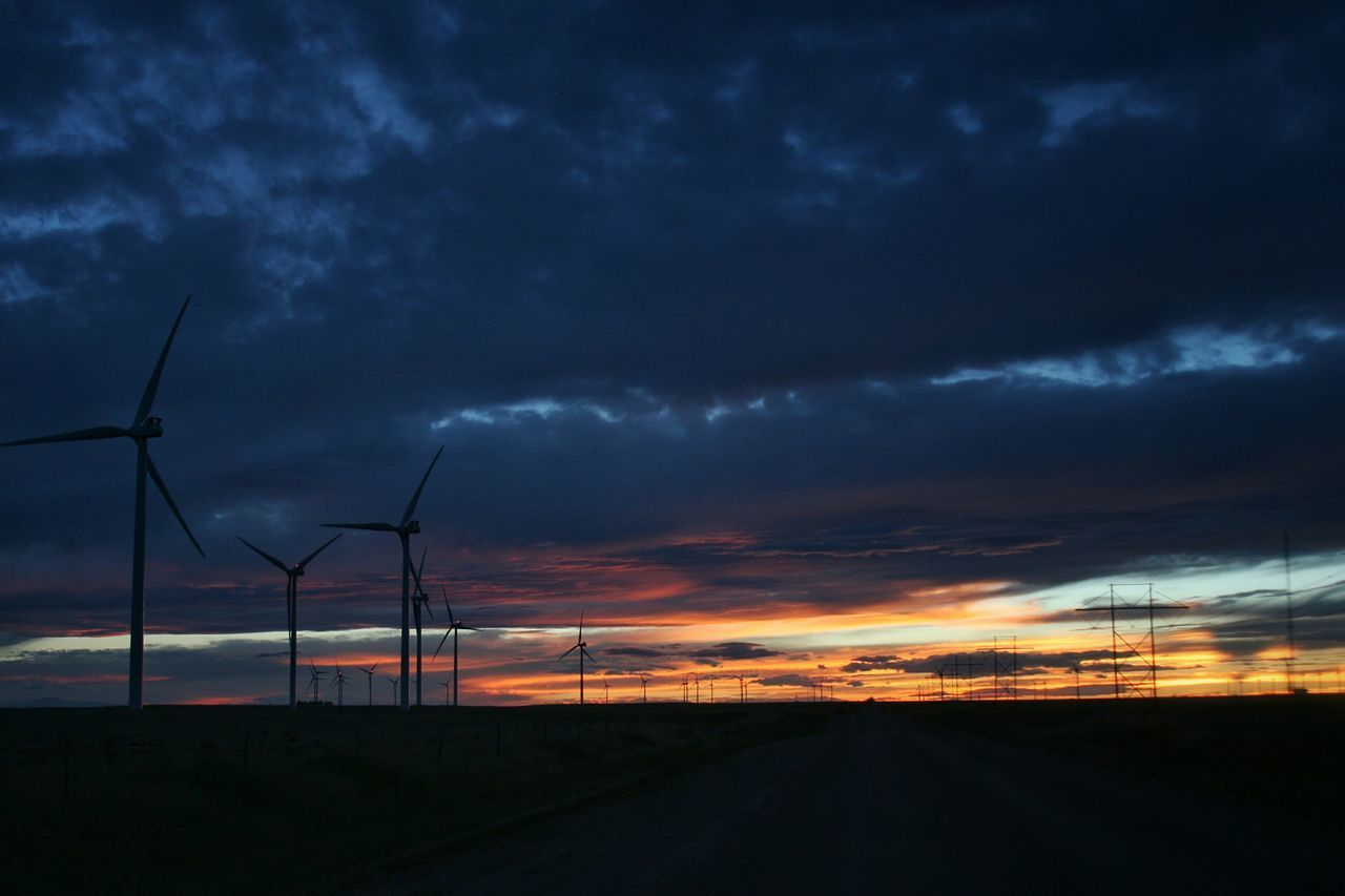 alternative energy, wind turbine, environmental conservation, wind power, fuel and power generation, renewable energy, windmill, industrial windmill, sunset, sky, no people, nature, cloud - sky, outdoors, rural scene, landscape, tranquil scene, scenics, beauty in nature, road, day
