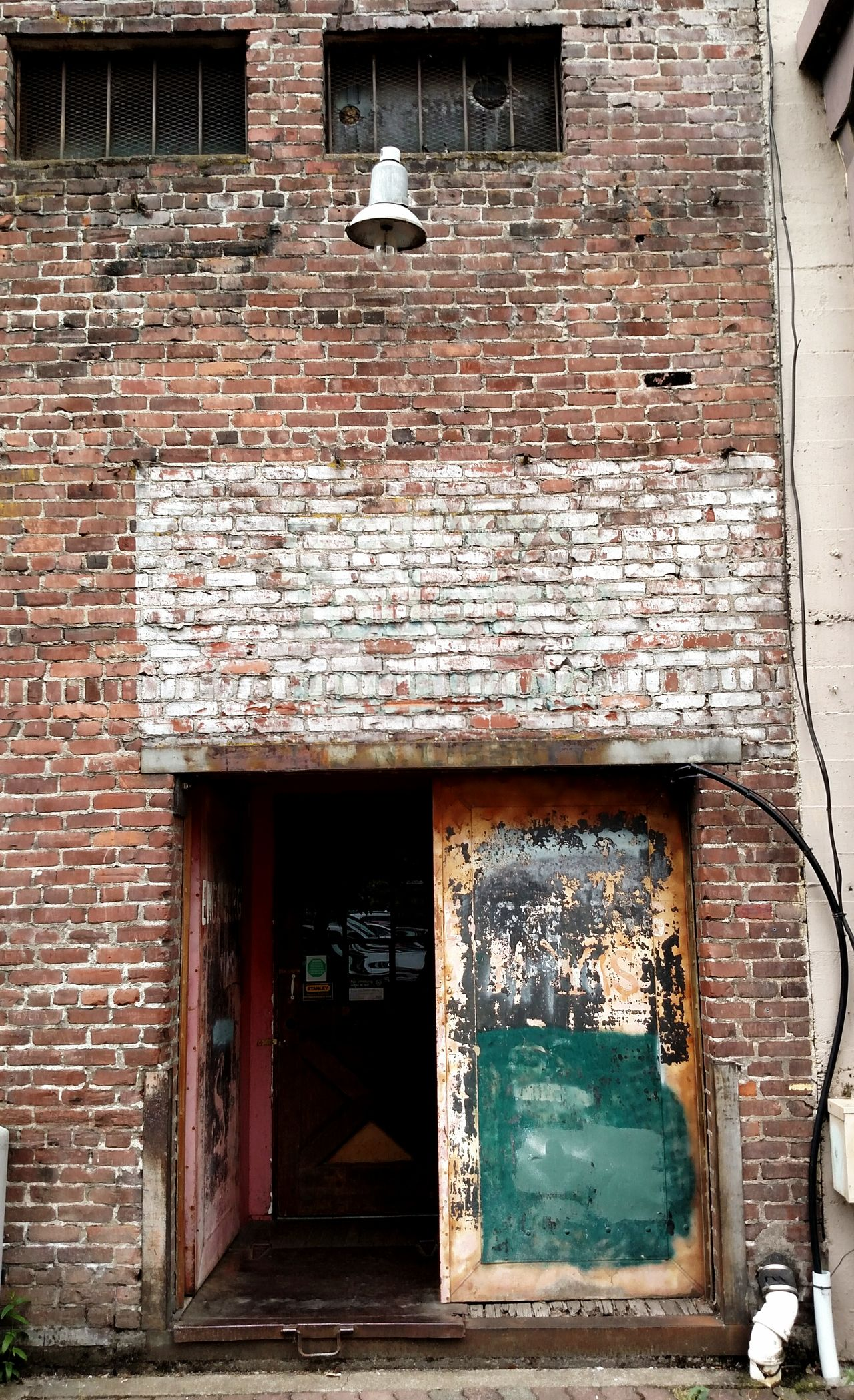 Taking Photos Check This Out Enjoying Life Brick Wall Alleyway Brick Building Street Photography Downtown Salem, Oregon Vintage Building Backdoor Architecture Lifestyles Light And Shadow Indoors  Leisure Activity No People Indoors  Nightclub Night Arts Culture And Entertainment