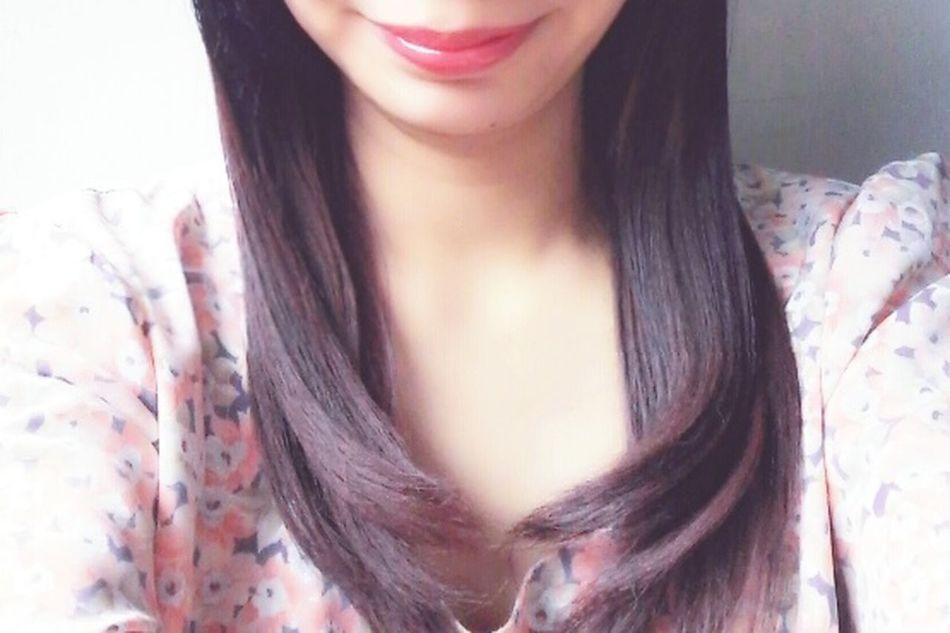 Capturing Freedom Ombre Hair Girl Dip Dye Hair Pink Purple Black Flowers First Eyeem Photo Red Lips