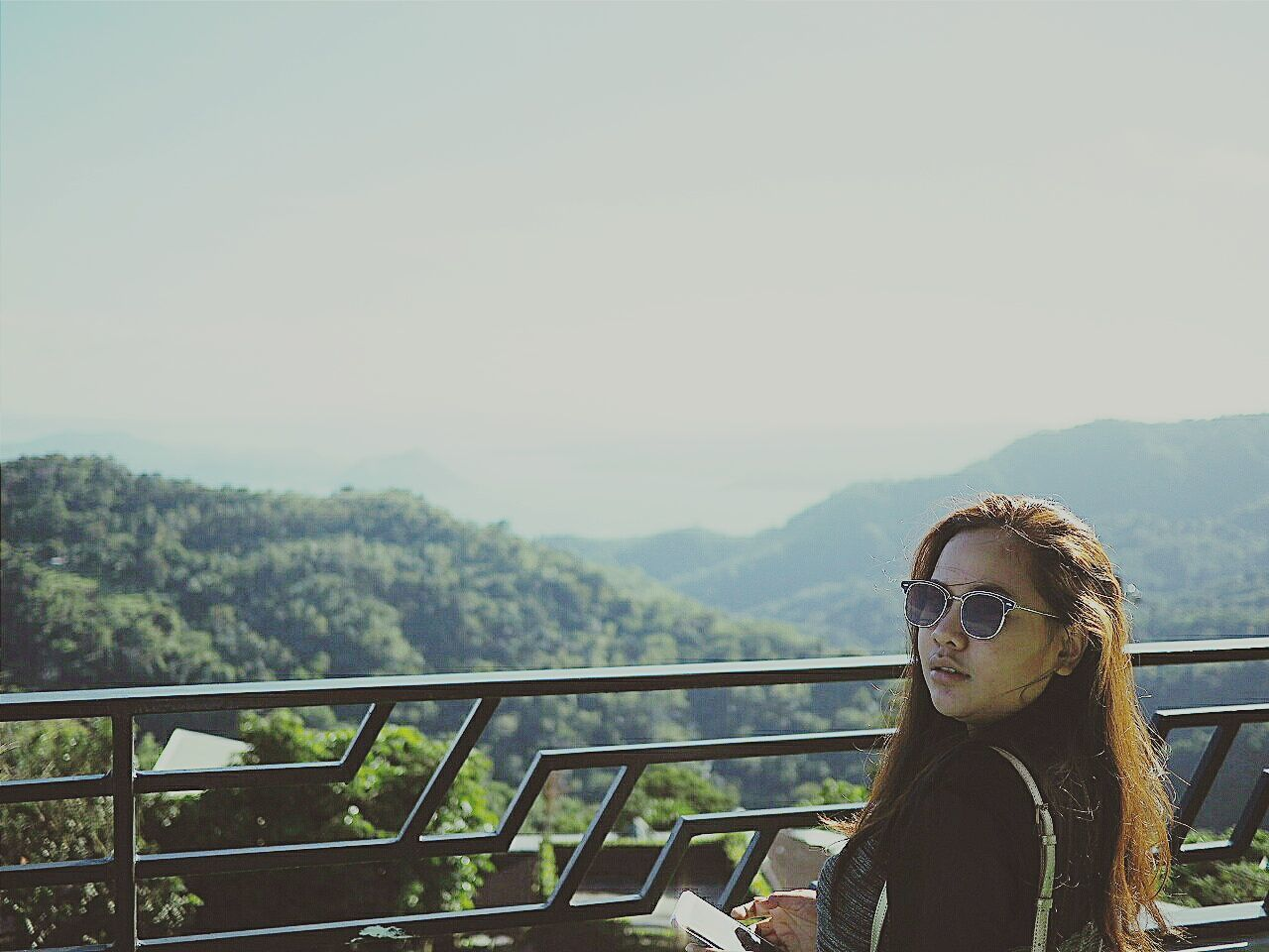 Mountain One Person Tree Only Women Adults Only One Woman Only Headshot Beauty In Nature Rural Scene Day Nature Adult Landscape People Outdoors Young Adult Sky Beautiful People Women TravelPhilippines Travelphotography Smiling Itsmorefuninthephilippines Tagaytay Philippines... Philippine Sceneries