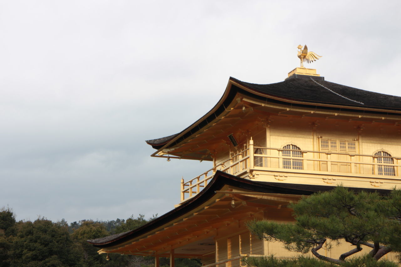 Architecture Building Exterior Built Structure Cloud - Sky Day Golden Temple Japan Japan Photography Kinkakuji Temple Kyoto Low Angle View Nature No People Outdoors Roof Sky Tree