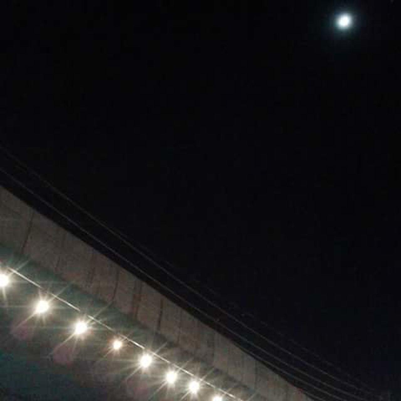 illuminated, night, stadium, indoors, spotlight, no people