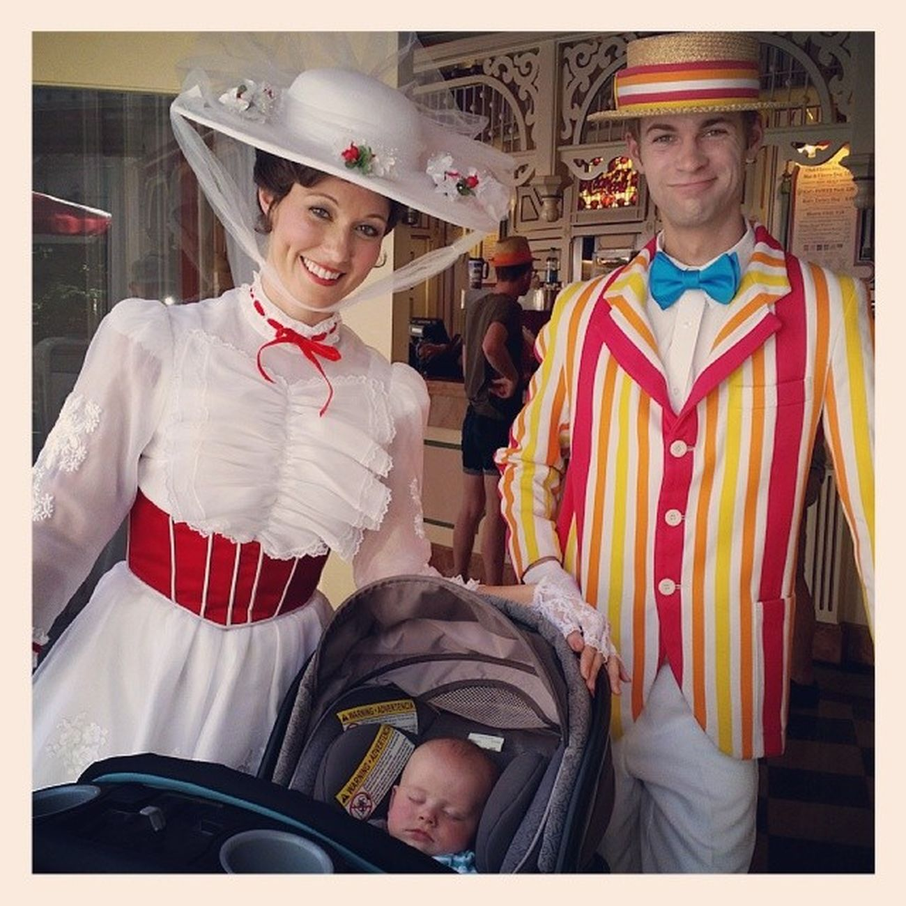 What wonderful memories we make while the other is asleep, he loves this movie in his waking hours though! Marypoppins Bert Disneyland Disneyside