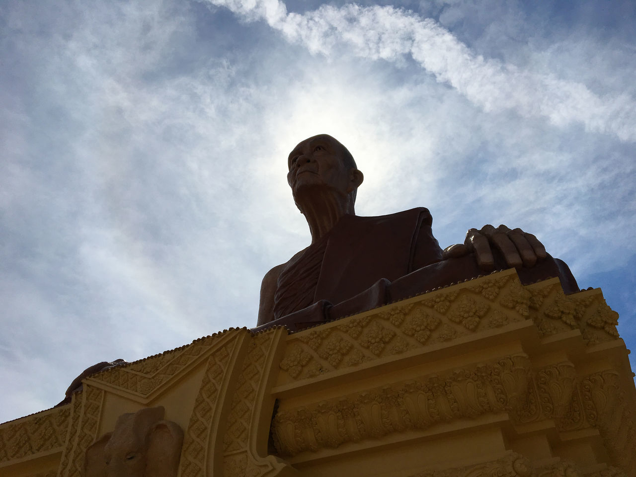 Architecture Budhism Cloud - Sky Day Low Angle View No People Outdoors Relegion Religion Sculpture Sky Statue