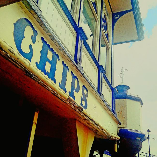 Eastbourne Pier Listed Building old Vintage Seaside Fish N Chips Chip Shop Repairing Rusting New Paint.