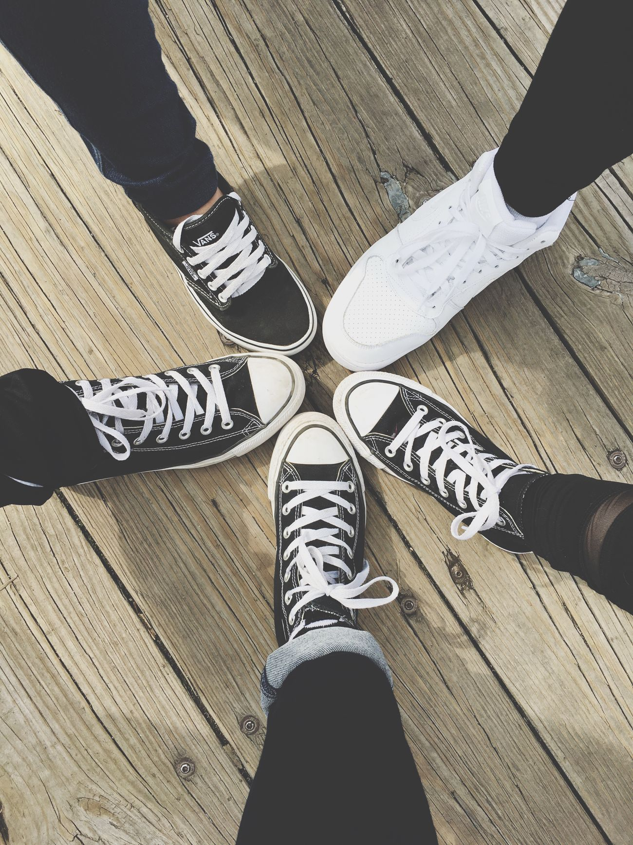 MACKINAW Shoe Low Section High Angle View Human Leg Hardwood Floor Standing Real People Men Human Body Part Indoors  Directly Above Wood - Material Lifestyles Two People Togetherness Day Close-up Friendship Adult People