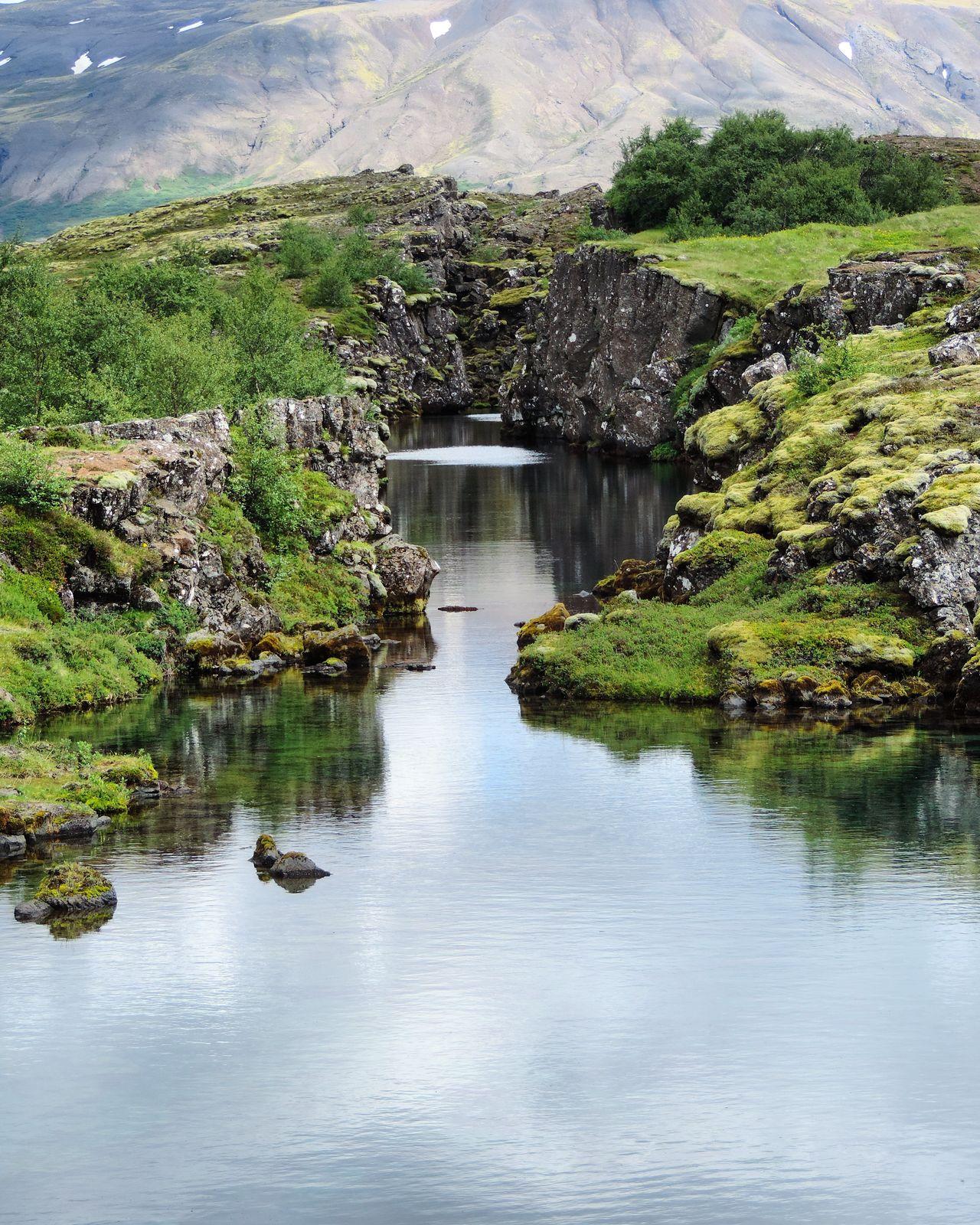 þingvellir Thingvellir National Park Iceland Water Reflection