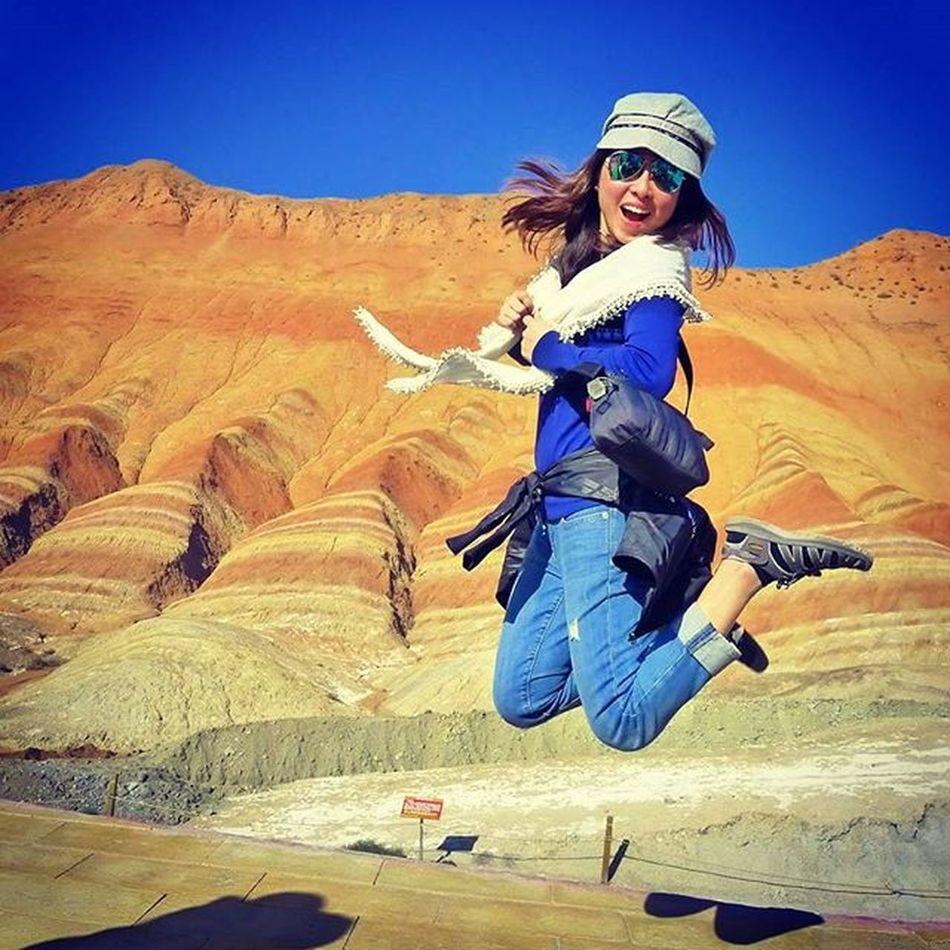 Fly High !!! Zhangye  Danxia Landform Gansu China