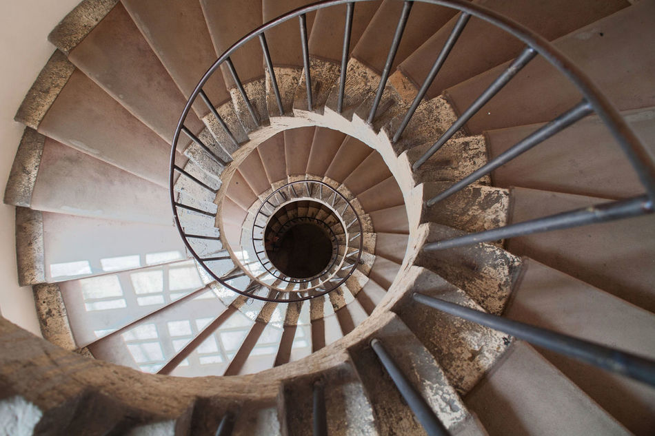 Architecture Built Structure Endless Energy Efficient Historical Building Italy Lazio Loop No People Railing Social Issues Spiral Spiral Staircase Spiral Stairs Staircase Steps Steps And Staircases Tivoli Villa D'Este