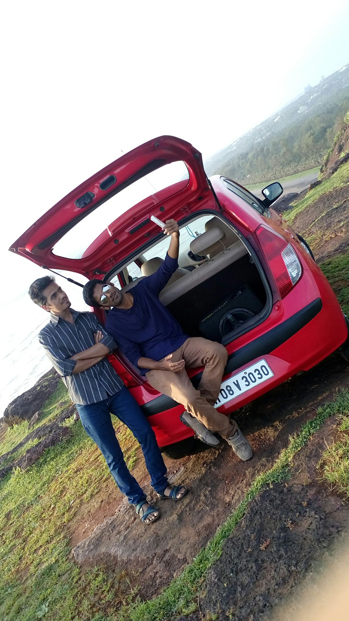 Selfietime with best buddie Enjoying Nature My Car♥ Amazing Nature Sea View Had Fun Craziest Moments