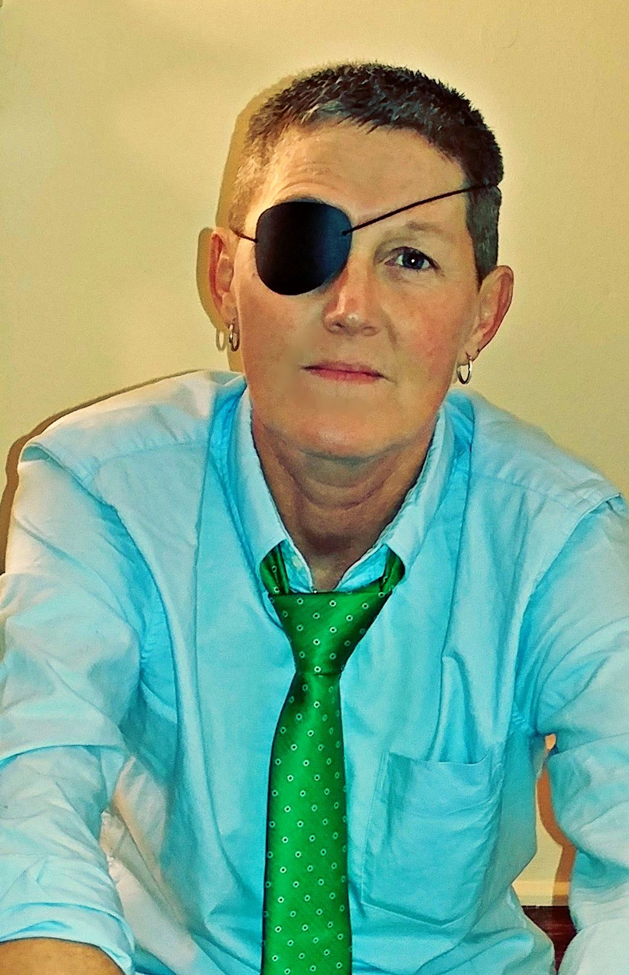 One Person Adult Looking At Camera Front View Real People Day Indoors  Lexington Kentucky  The Portraitist - 2017 EyeEm Awards Eye Patch Blindness One Young Woman Only Adult Tie Button Down Shirt Dominiquephotography The Portraitist - 2017 EyeEm Awards The Week On EyeEm Investing In Quality Of Life