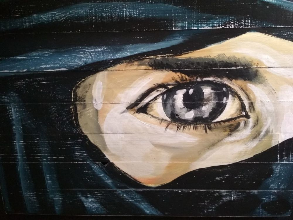 Paint Art Human Eye One Person Looking At Camera Portrait