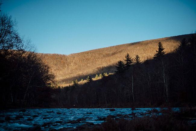Catskill Mountains Sunset Esopus River Flyfishing